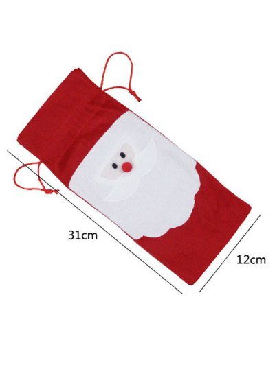 Merry Christmas Santa Pattern Cover Bag - RED  Mobile