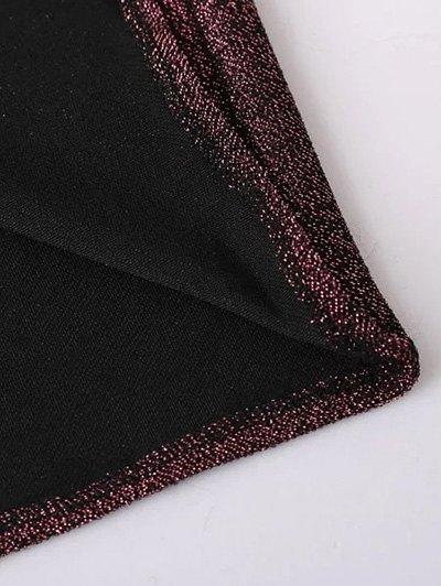 Glitter Midi Pencil Dress - CLARET L Mobile