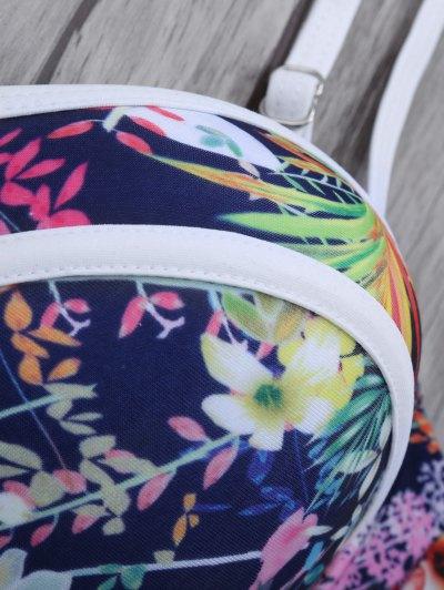 Push Up Floral Bikini Set - COLORMIX M Mobile