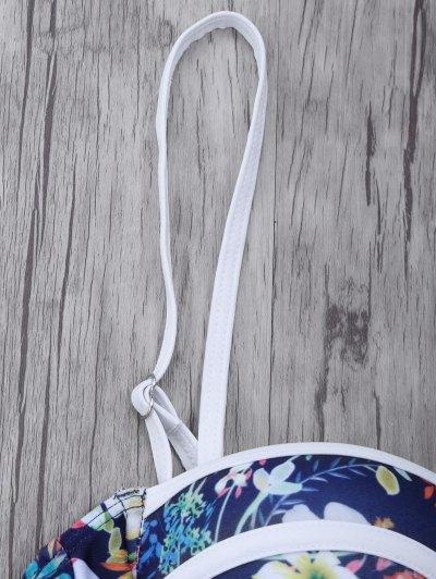 Push Up Floral Swimsuit Slip - COLORMIX XL Mobile
