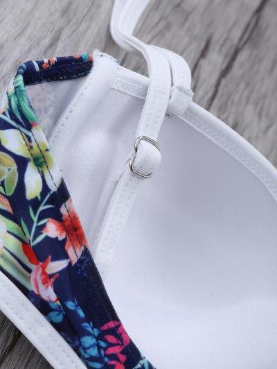 Push Up Floral Swimsuit Slip - COLORMIX S Mobile