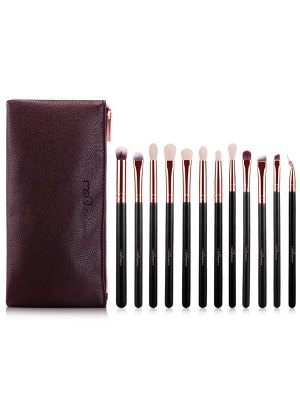 Goat Hair Eye Makeup Brushes Kit - Rose Gold