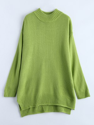 Crewneck Oversized Sweater - Green