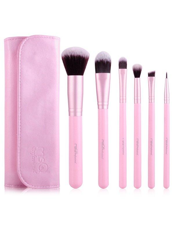 6 Pcs Facial Eye Makeup Brushes Set with Brush Bag