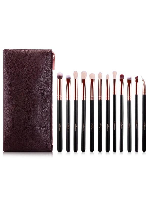 12 Pcs Goat Hair Eye Makeup Brushes Set with Brush Bag