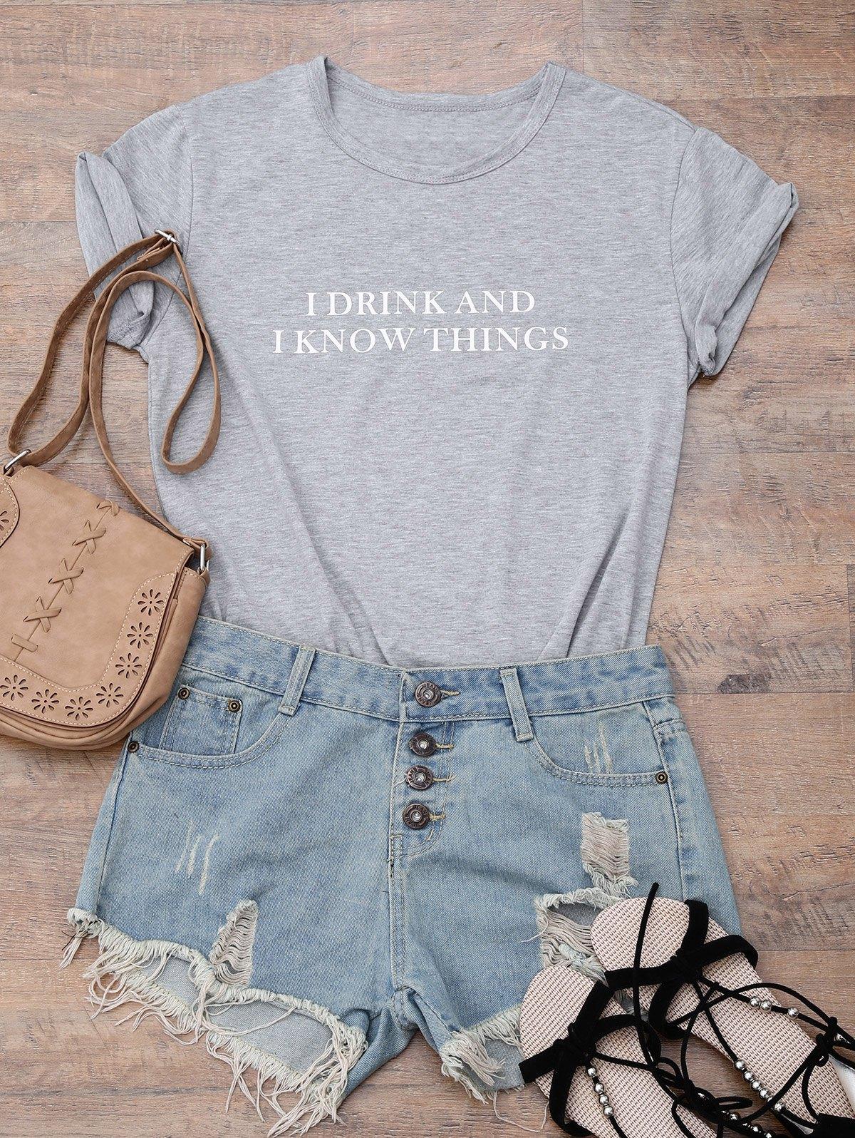 Streetwear Short Sleeve Letter Boyfriend T-Shirt