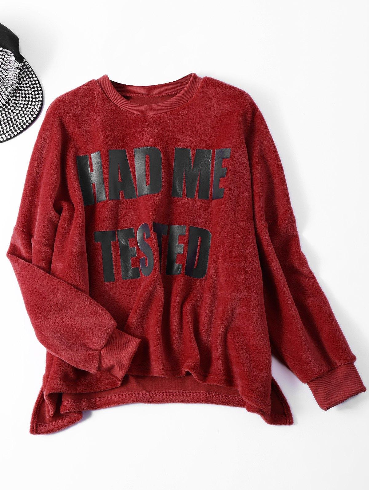 Wool Blend Velvet Letter Sweatshirt
