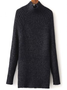 Tight Raglan Sleeve Ribbed Sweater