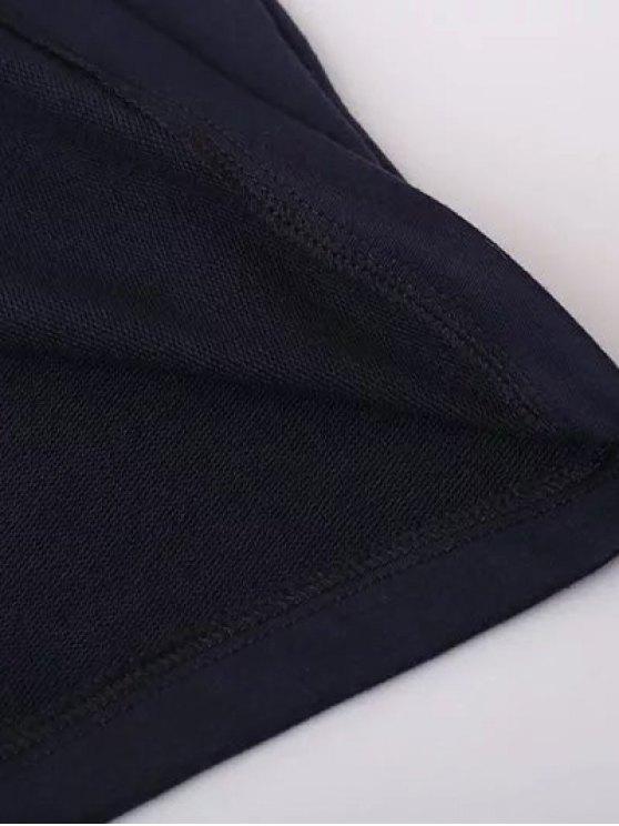 Floral Applique Pullover Sweatshirt - CADETBLUE S Mobile