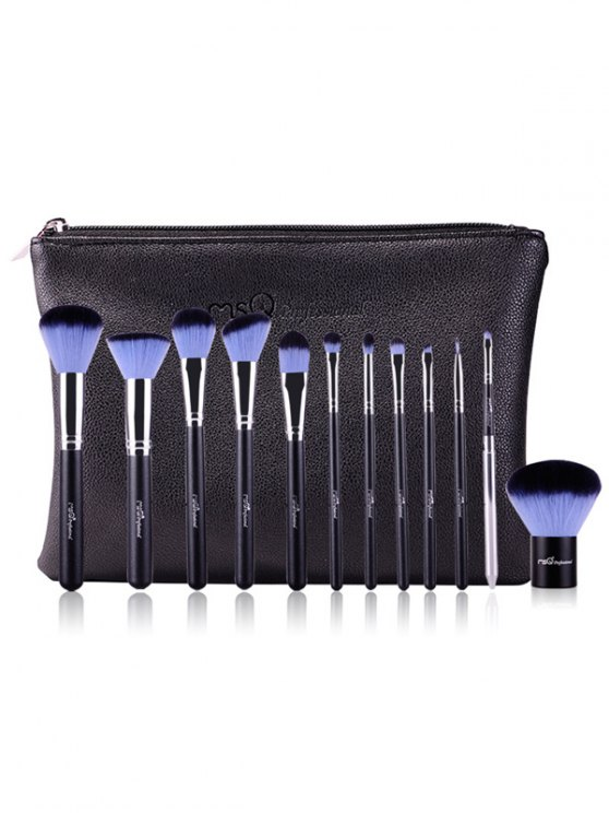 12 Pcs Makeup Brushes Kit - BLUE  Mobile