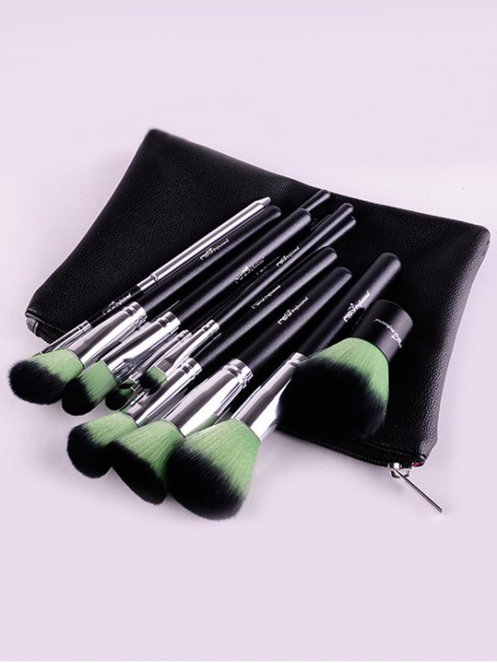 12 Pcs Makeup Brushes Kit - GREEN  Mobile