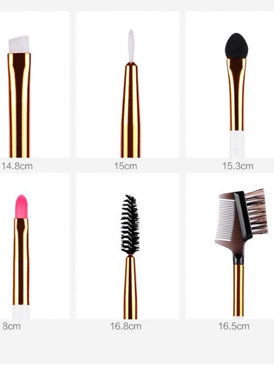 Portable Fiber Makeup Brushes Kit -   Mobile