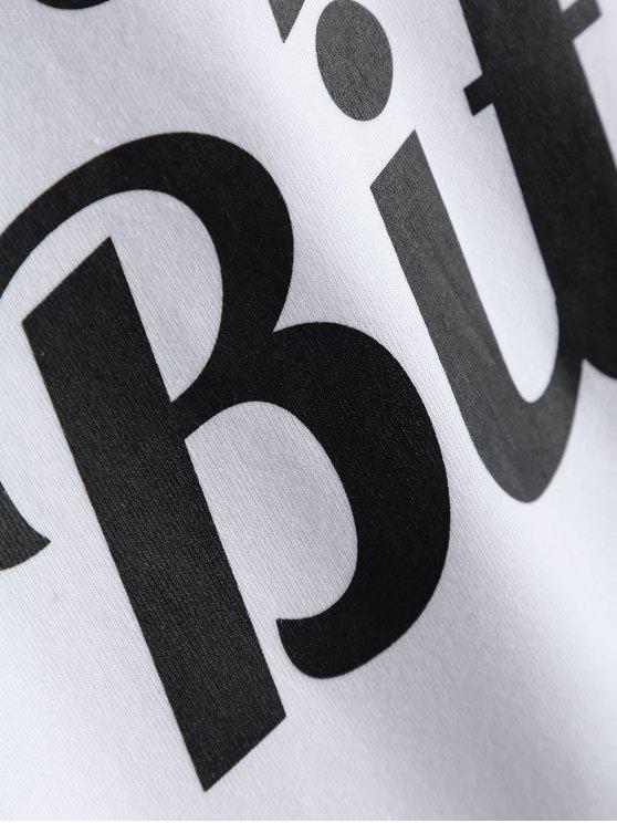 Short Sleeve Letter Boyfriend Streetwear Tee - WHITE 3XL Mobile