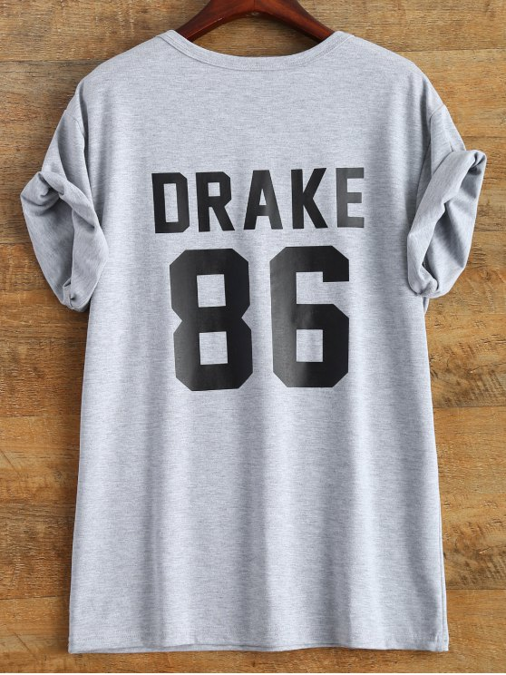 Drake 86 Graphic Tee - GRAY 3XL Mobile