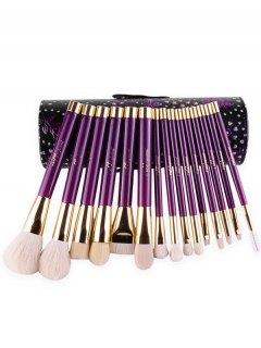 Goat Hair Makeup Brushes Kit - Purple