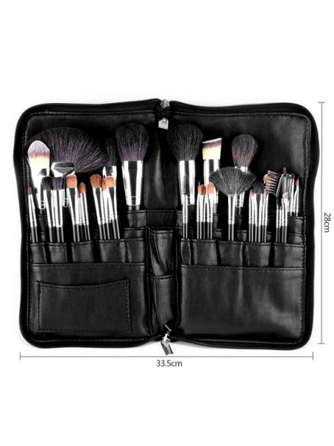 outfits Animal Hair Makeup Brushes Kit - BLACK  Mobile