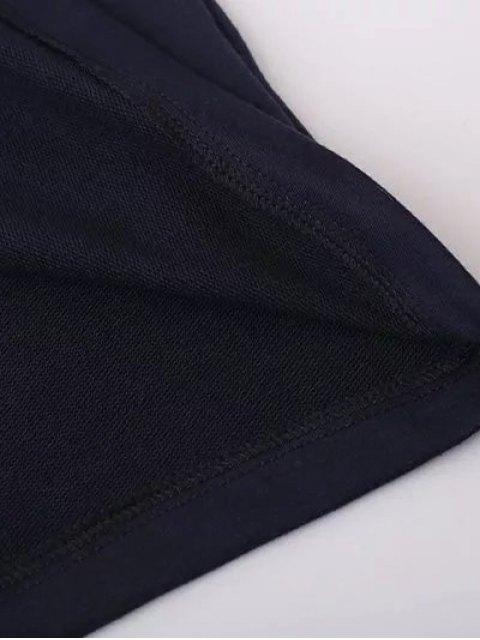 affordable Floral Applique Pullover Sweatshirt - BLACK L Mobile