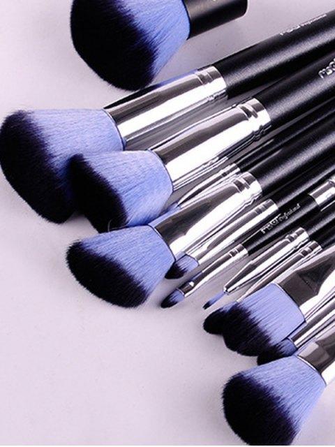 unique 12 Pcs Makeup Brushes Kit - BLUE  Mobile