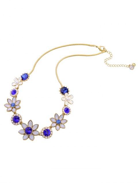 best Faux Sapphire Glaze Flower Necklace -   Mobile