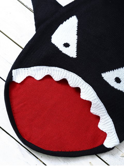 outfits Shark Shape Cartoon Baby Blanket Throw - BLACK  Mobile