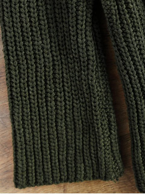 new Chunky Funnel Collar Sweater - ARMY GREEN ONE SIZE Mobile