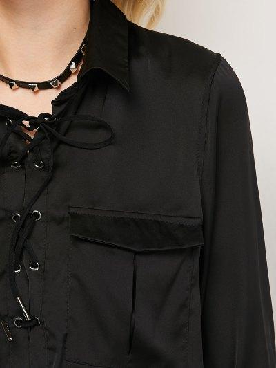 OL Lace-Up Shirt - BLACK XL Mobile