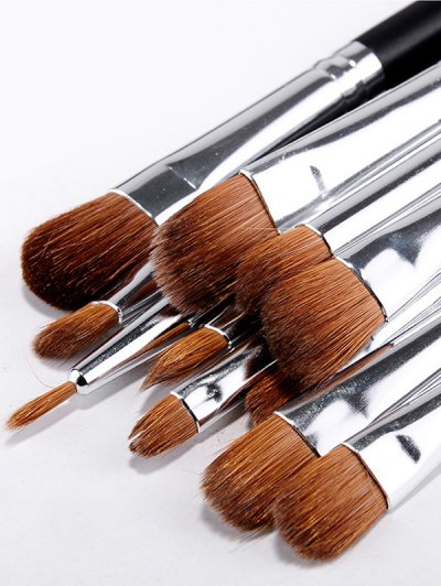 Animal Hair Makeup Brushes Kit - BLACK  Mobile