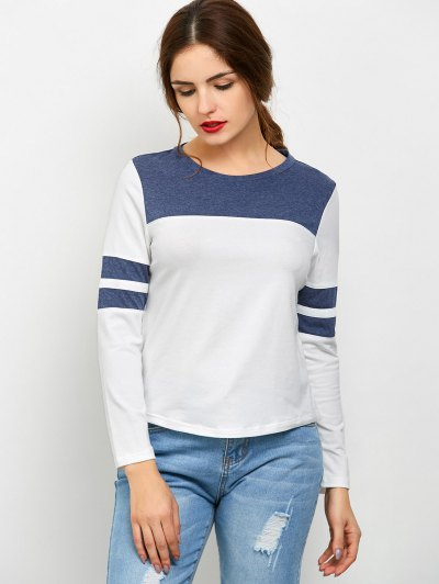 Color Block Space Dyed T-Shirt - WHITE XL Mobile