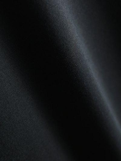 Short Sleeve Letter Pattern T-Shirt - BLACK S Mobile