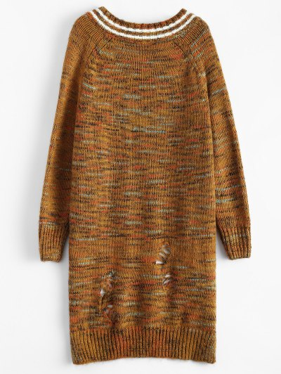 High Low Heather Sweater - EARTHY ONE SIZE Mobile