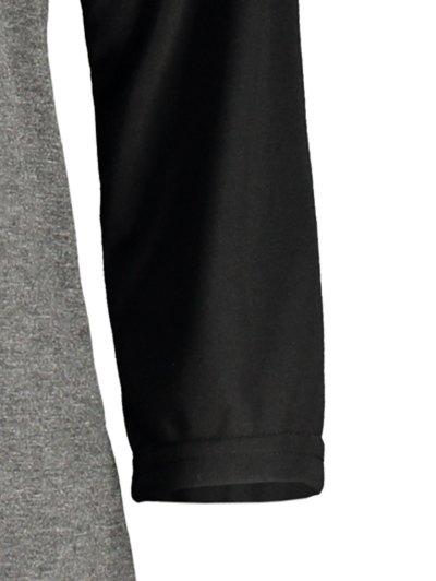 Game Day Baseball Tee - BLACK AND GREY XL Mobile