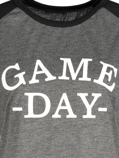 Game Day Baseball Tee - BLACK AND GREY S Mobile