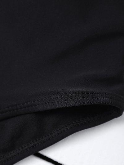 Macrame One Piece Swimsuit - BLACK M Mobile