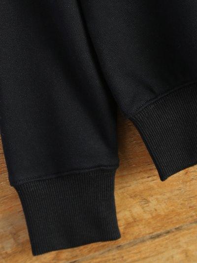Letter Dirty Hippie Print Sweatshirt - BLACK S Mobile