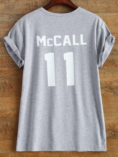 Short Sleeve McCall 11 Boyfriend Tee - GRAY 2XL Mobile