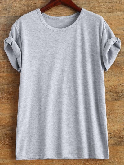 Short Sleeve McCall 11 Boyfriend Tee - GRAY L Mobile
