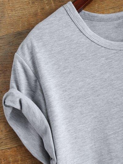 Short Sleeve McCall 11 Boyfriend Tee - GRAY M Mobile