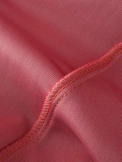 Slip Velvet Wrap Midi Dress - LAKE BLUE M Mobile