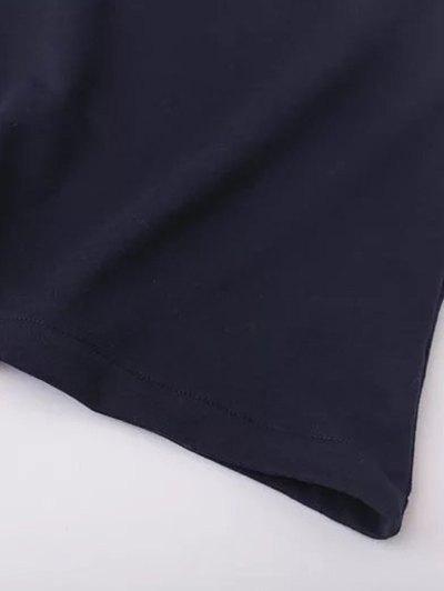 Floral Applique Pullover Sweatshirt - BLACK M Mobile