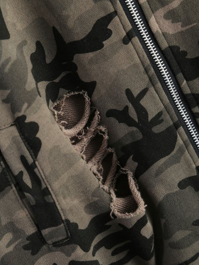 Distroyed Camo Bomber Jacket - ACU CAMOUFLAGE XL Mobile