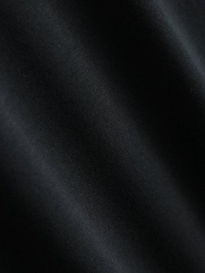 Short Sleeve Herbiuone Boyfriend T-Shirt - BLACK L Mobile