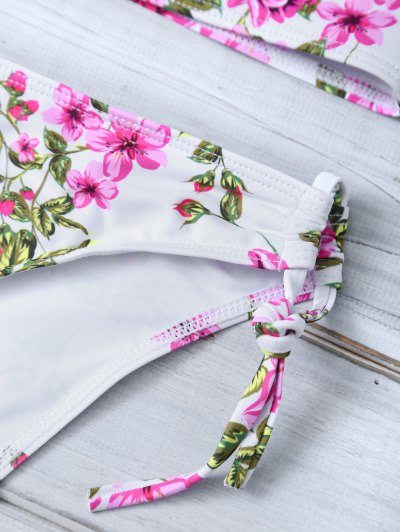 Tiny Floral Halter Bikini Set - FLORAL M Mobile