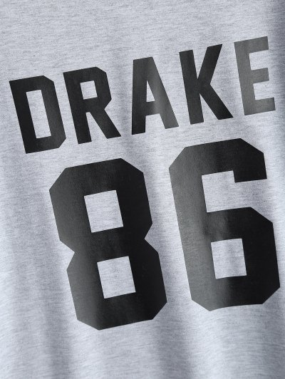 Drake 86 Graphic Tee - GRAY M Mobile