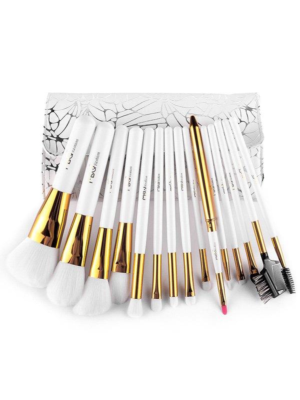 15 Pcs Fiber Makeup Brushes Set with Brush Bag