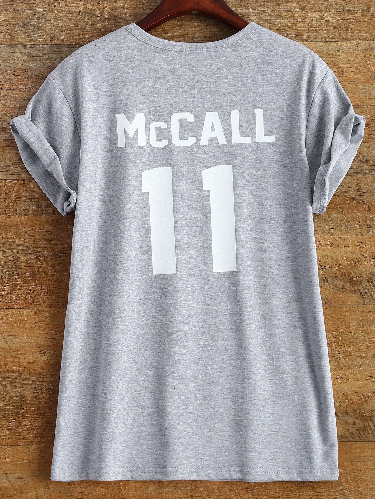 Streetwear Short Sleeve McCall 11 Boyfriend T-Shirt