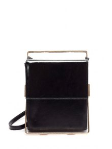 Metal Trimmed Minimal Crossbody Bag