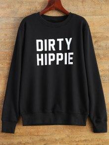 Letter Dirty Hippie Print Sweatshirt
