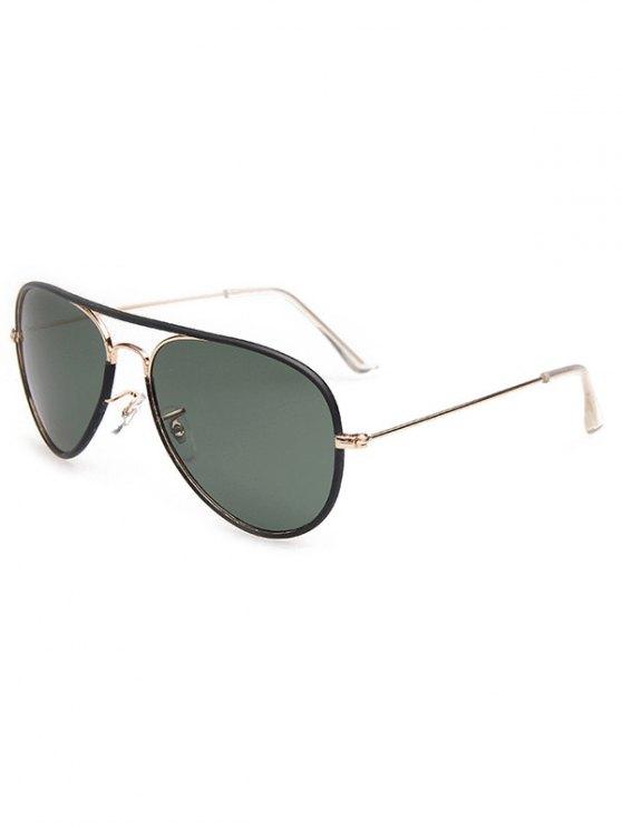 Full Rims Metal Pilot Sunglasses - BLACK  Mobile
