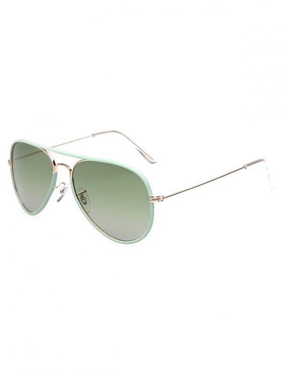 Full Rims Metal Pilot Sunglasses - GREEN  Mobile