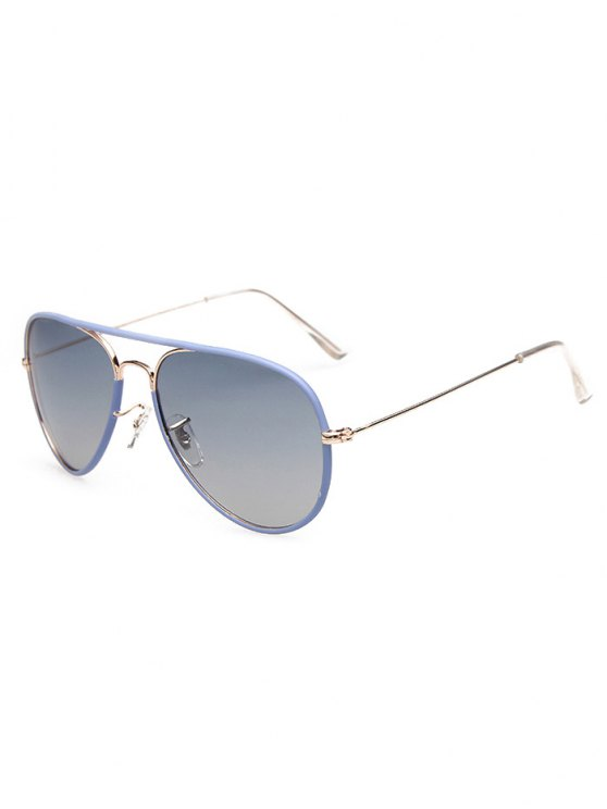 Full Rims Metal Pilot Sunglasses - BLUE  Mobile